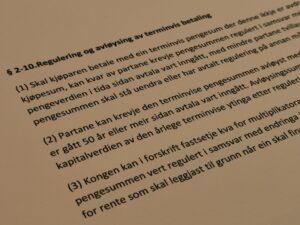 Avhendingsloven paragraf 2-10 med lovkommentar