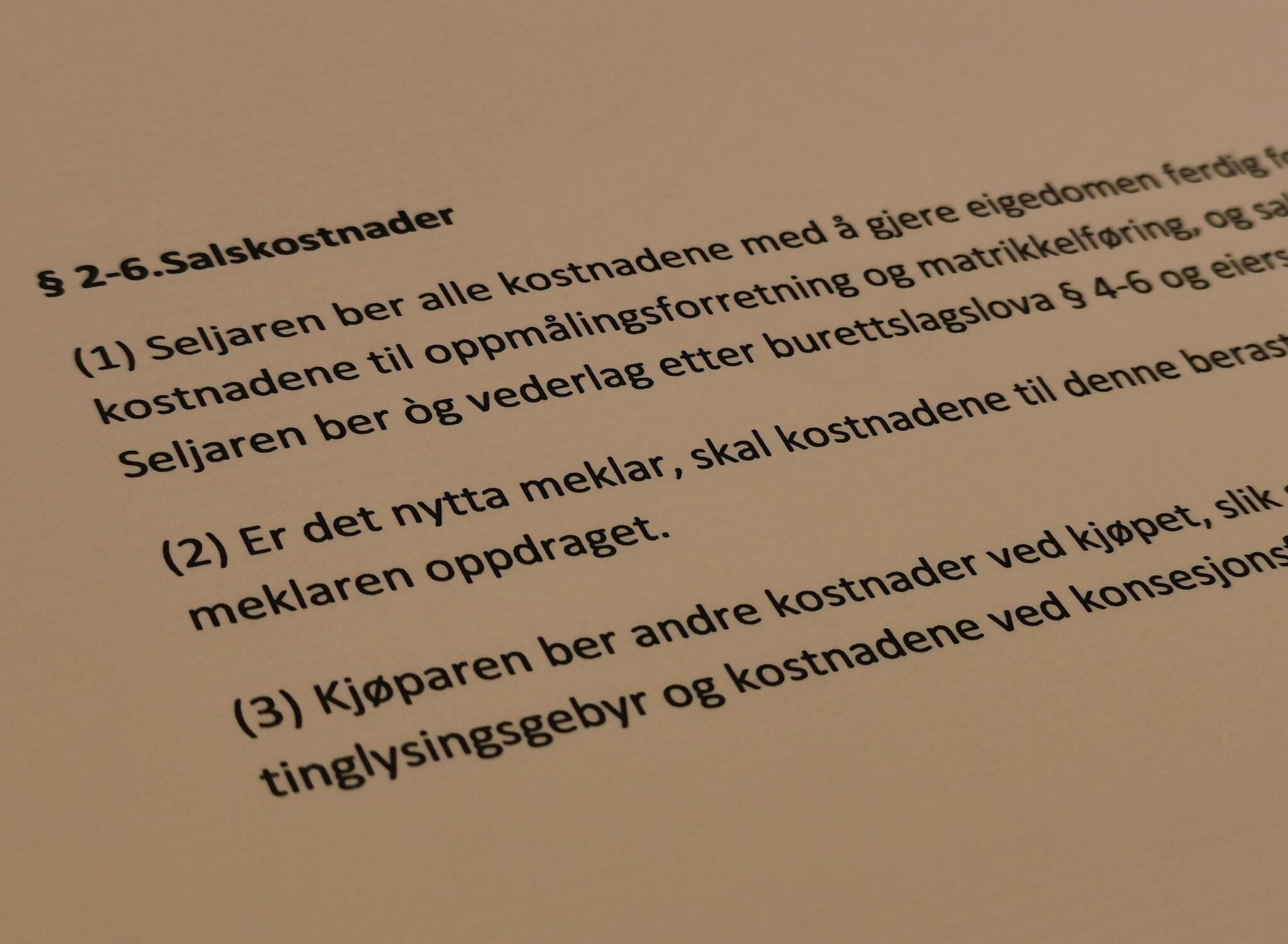Avhendingsloven paragraf 2-6 med lovkommentar