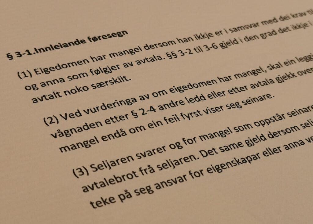 Avhendingsloven paragraf 3-1 med lovkommentar