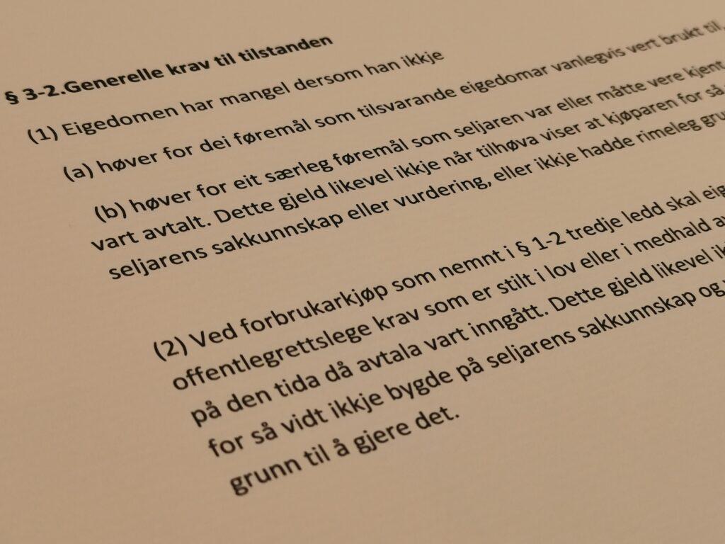 Avhendingsloven paragraf 3-2 med lovkommentar