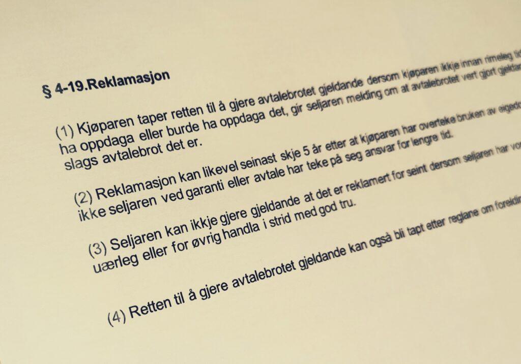 Avhendingsloven paragraf 4-19 med lovkommentar
