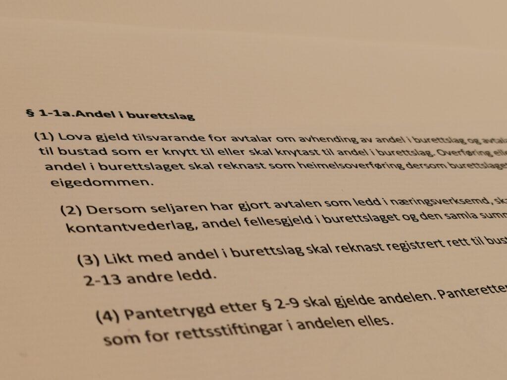 Avhendingsloven paragraf 1-1a med lovkommentar