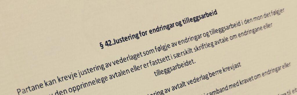 Bustadoppføringslova paragraf 42 med lovkommentar