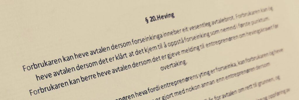 Bustadoppføringslova paragraf 20 med lovkommentar