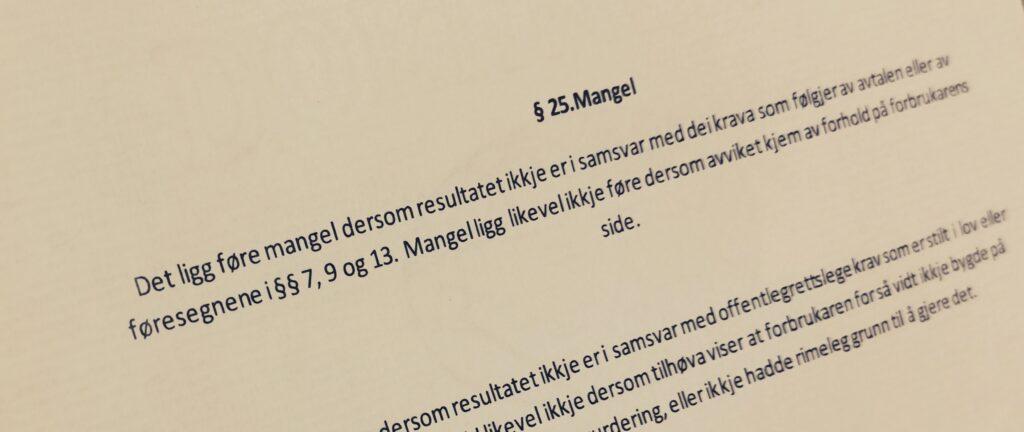 Bustadoppføringslova paragraf 25 med lovkommentar