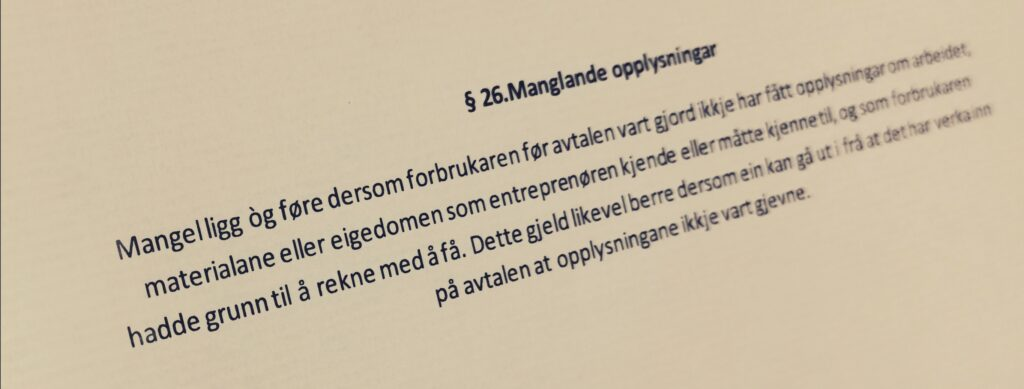 Bustadoppføringslova paragraf 26 med lovkommentar