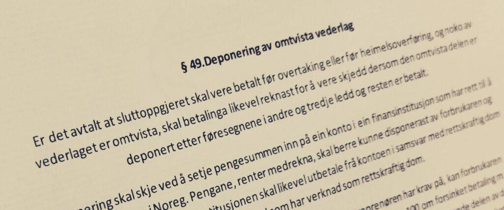 Bustadoppføringslova paragraf 49 med lovkommentar