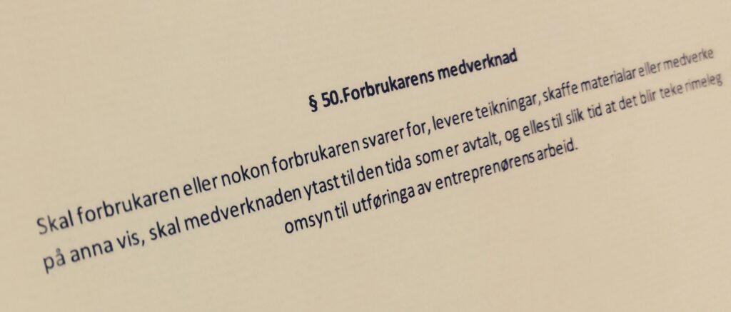 Bustadoppføringslova paragraf 50 med lovkommentar