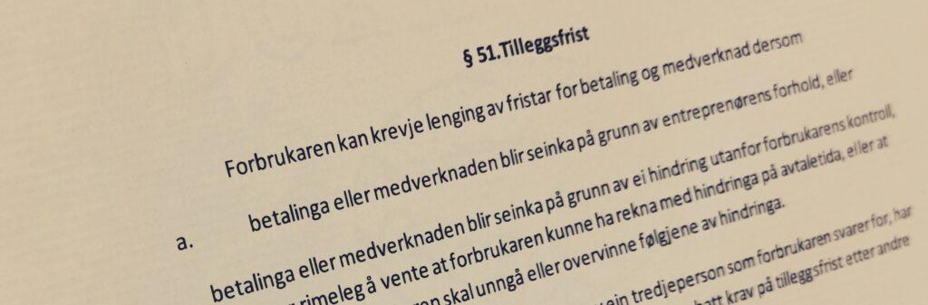 Bustadoppføringslova paragraf 51 med lovkommentar