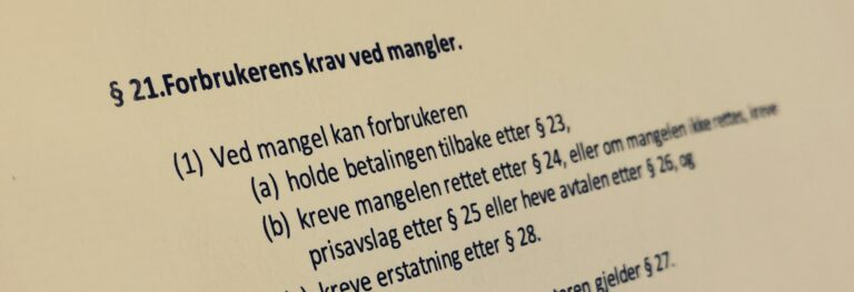 Håndverkertjenesteloven paragraf 21 med lovkommentar