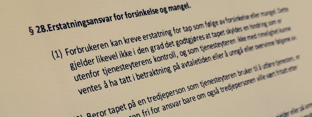 Håndverkertjenesteloven paragraf 28 med lovkommentar