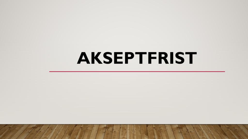 Akseptfrist