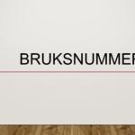 Bruksnummer