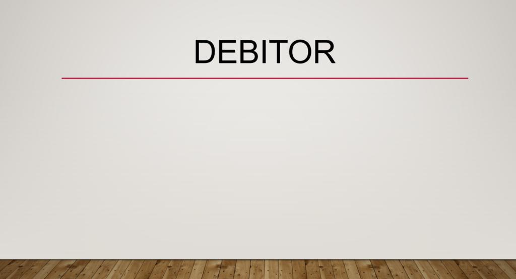 Debitor
