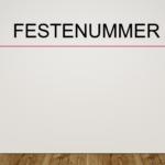 Festenummer
