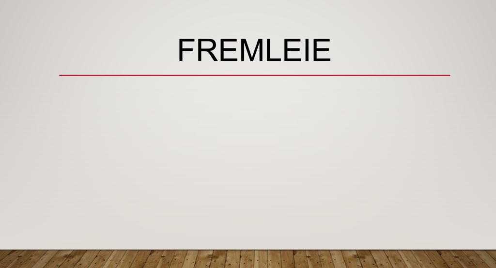 Fremleie