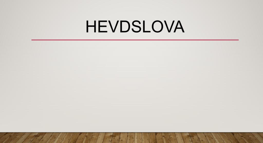 Hevdslova
