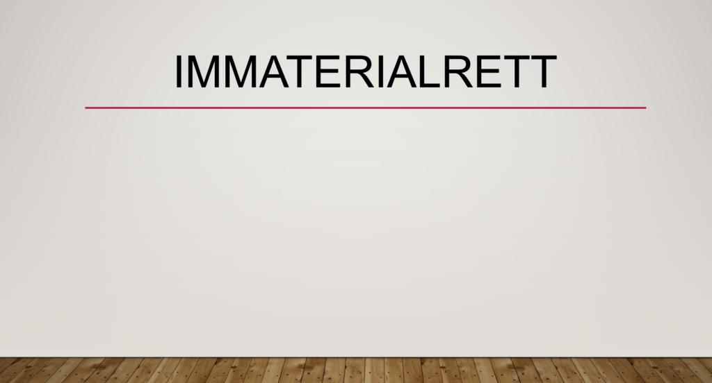 Immaterialrett