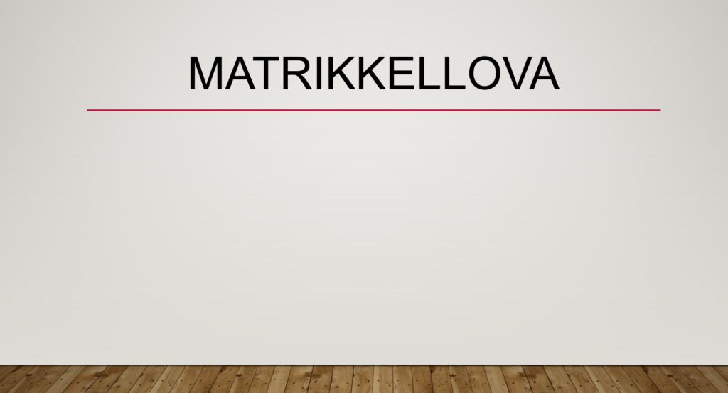 Matrikkellova