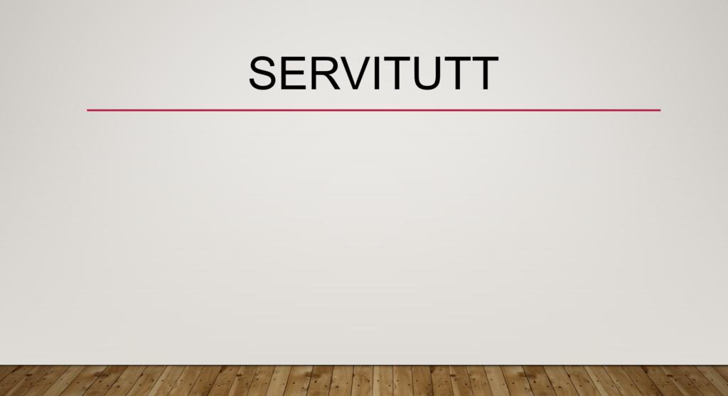 Servitutt