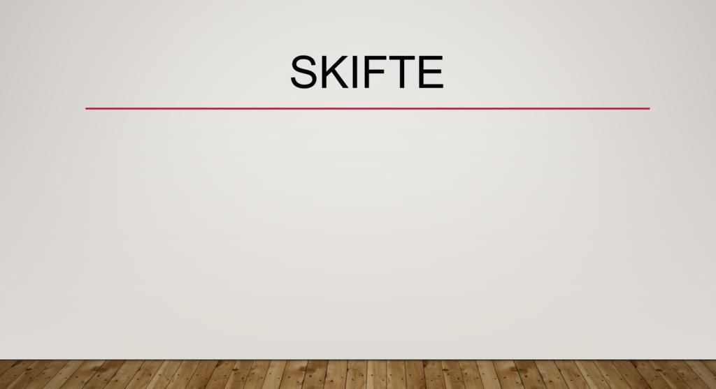 Skifte