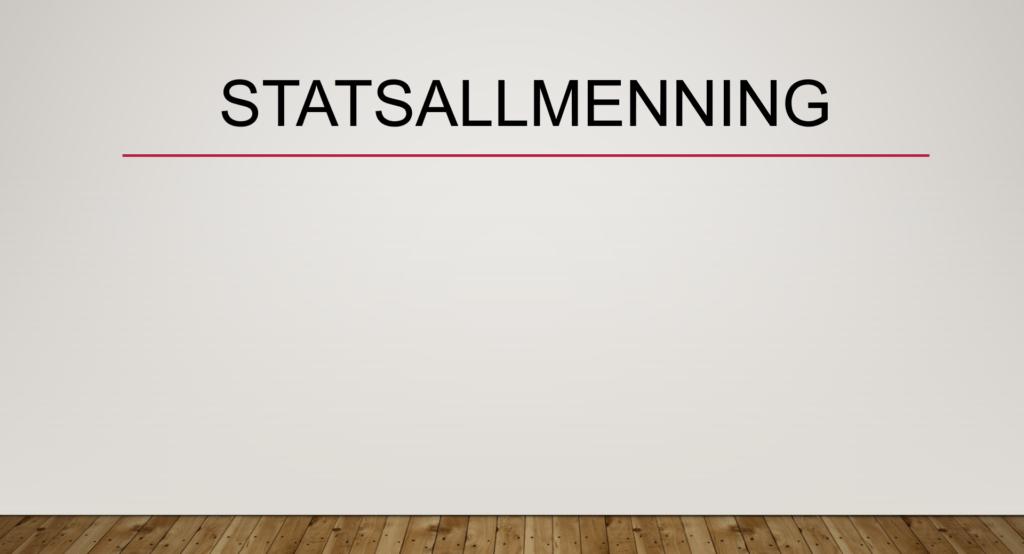 Statsallmenning