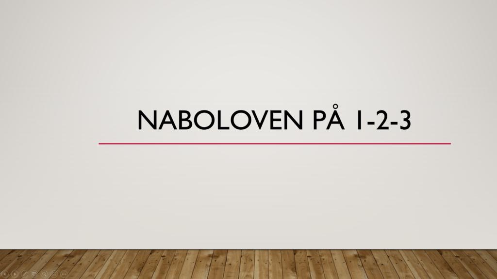 Naboloven på 1-2-3